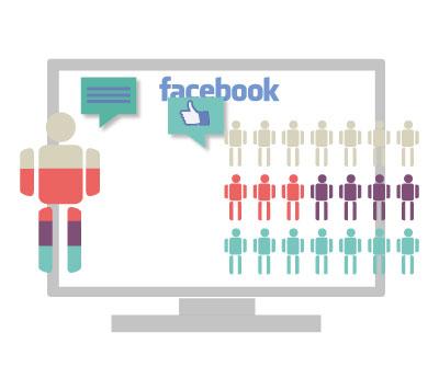 Facebook es una red social de uno a muchos