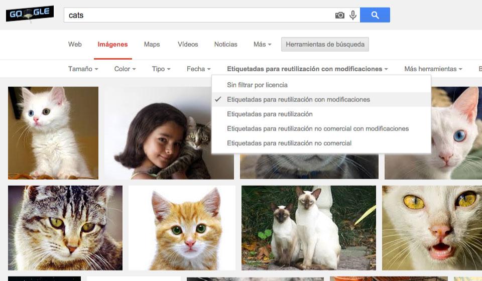filtros google imagenes gratis
