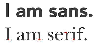 diferencia entre serif y sans serif