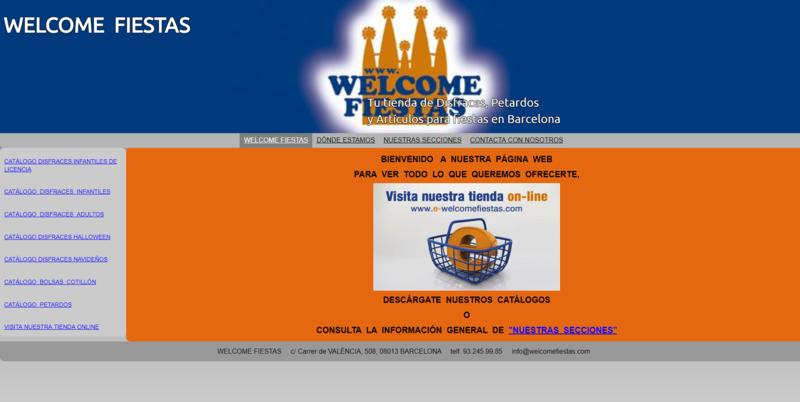 Otro ejemplo de web fea.