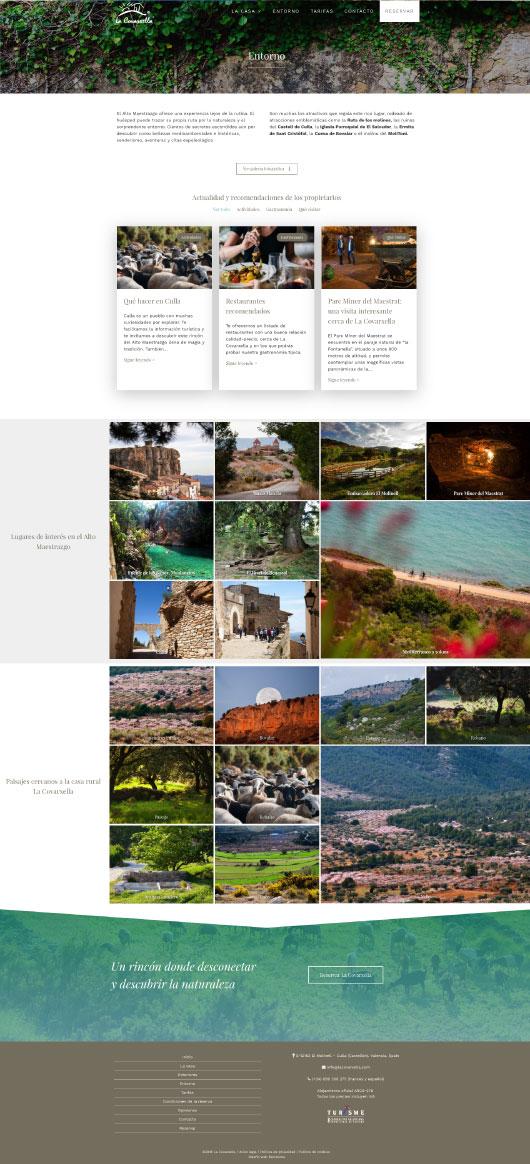 Página de Entorno de La Covarxella