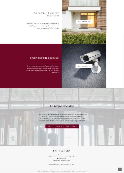 diseño web barcelona para empresa de seguridad